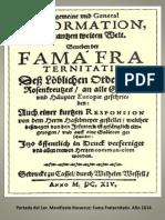 Fama Fraternitatis Portada