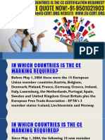 In Which Countries Is The CE Certification Required?