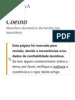 Coelho – Wikipédia, A Enciclopédia Livre