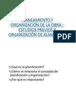Planeamiento y Organizacion de La Obra