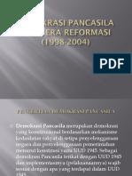 Demokrasi Pancasila Pada Era Reformasi (1998-2004)