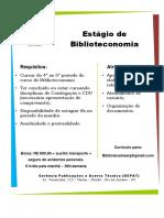 Cartaz estágio_Biblioteconomia
