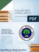 Analisis Kritis Artikel Jurnal