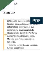Sultão – Wikipédia, A Enciclopédia Livre