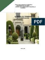 Glosario de Terminos en Planificación