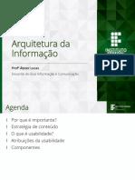 Arquitetura Da Informação - Usabilidade
