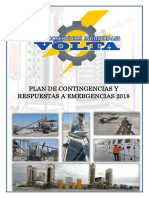Plan de Contingencias y Respuestas a Emergencias Volta 2018