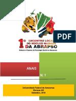 Anais Do 1 Encontro Local Do Núcleo Manaus Da ABRAPSO