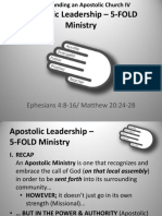 Understanding an Apostolic Church IV