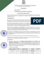 Resolución Rectoral para la conformación de Comisión Organizadora de la Escuela de Estudios Generales
