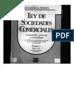Ley de Sociedades Comerciales Tomo 1 Nissen ART 1 a 55
