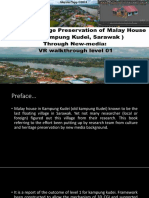 Cultural Heritage Preservation of Malay House ( Old kampung Kudei, Sarawak ) through New-media