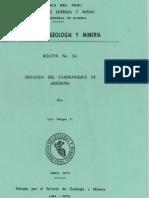 Geología - Cuadrangulo de Arequipa (33s),1970