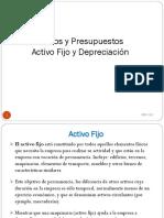 Activo Fijo y Depreciación.2018