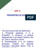 Acoustics Unit 3