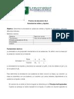 Practica de Laboratorio No. 3 Quimica