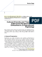 SMOLKA, Ana - Cultural Diversity and Theoretical Diferences Perspectives and Dificulties in Cross-cultural Psychology