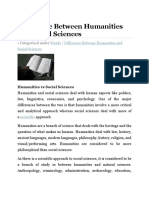 Difference Between Humanities and Social Sciences