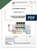 Lab 03 - Circuitos Sumadores y Decodificadores
