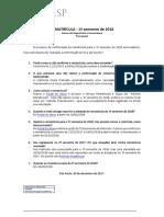 Prorrogacao Rematricula 1 2018 Univesp