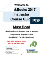 2. QuickBooks Instructor Course Guide