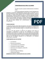 Cluster Industriales en El Peru y El Mundo