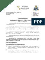 """Los principales puntos del """"compromiso de Lima"""" contra la corrupción que se firmó"""