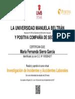 Certificado UMB