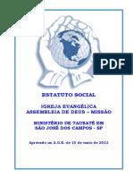 Estatuto Social Da Igreja 2012