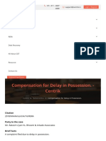 Compensation for Delay in Possession. Centrik