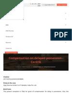 Compensation on Delayed Possession Centrik
