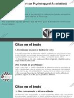 Ayudantia APA Manual Sexta Edición