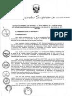 decreto supremo n° 023-2014-minagri Ley Recursos Hidricos