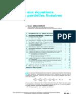 Introduction Aux Équations Aux Dérivées Partielles Linéaires
