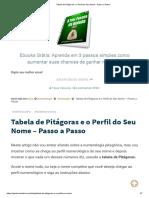 Tabela de Pitágoras e o Perfil Do Seu Nome - Passo a Passo