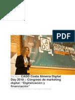 CADD Costa Almería Digital Day 2018