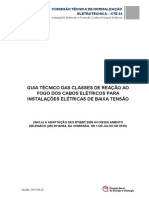 Guia Tecnico Das Classes de Reacao Ao Fogo Dos Cabos Eletricos Para Instalacoes Eletricas de Baixa Tensao
