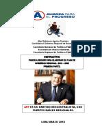 Instructivo Para Elaborar El Plan de Gobierno Regional APP