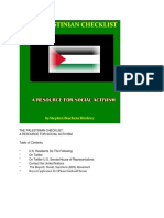 The Palestine Checklist 2018