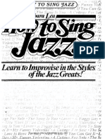 How to Sing Jazz