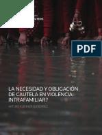 La Necesidad y Obligacion de Cautela en Violencia Intrafamiliar