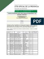 Lista Provisional 10 Bomberos Ayto. Badajoz