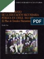 Nicolás Cruz - El Surgimiento de La Educación Secundaria