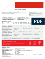 Your Electronic Ticket Receipt
