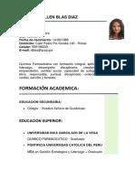 Daniela Hellen Blas Diaz - Cv