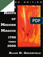 Green Field Allen the Roots of Modern Magick 1700 Thru 2000