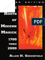 Green Field Allen the Roots of Modern Magick 1700 Thru 2000