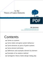 Introduction to the Theory of Game Elements 18752