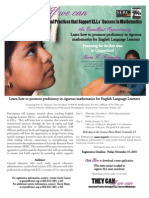 Math ELL PD Opportunity