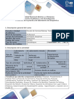 Protocolo de La Práctica de Laboratorio de Bioquímica